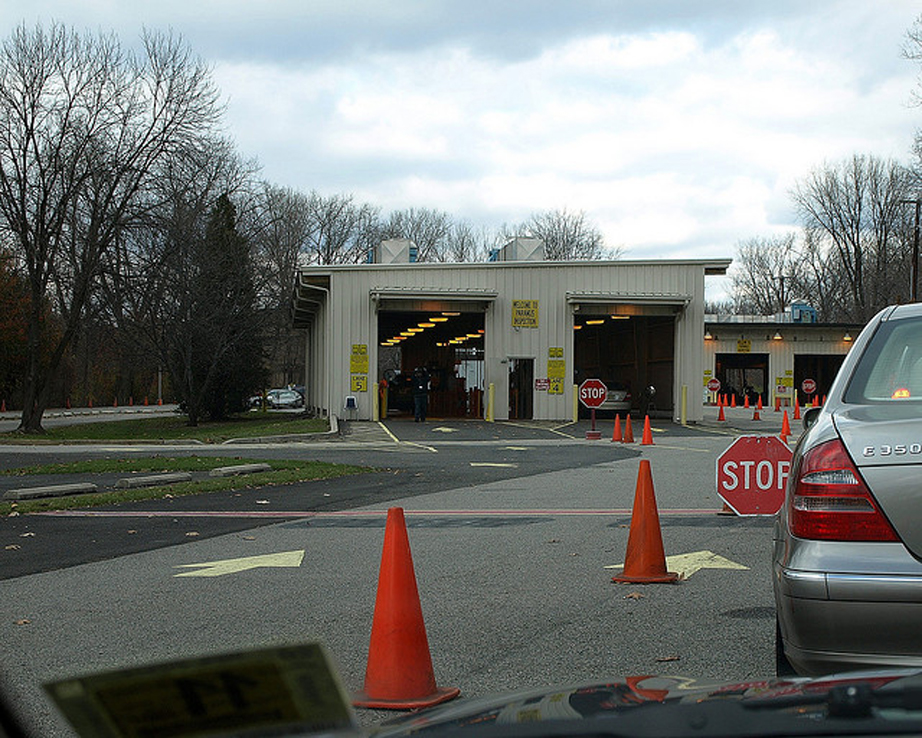 I was the one who closed all the traffic lanes for Washington state motor vehicle emission inspection station